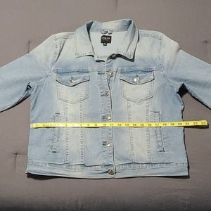 Light blue denim jean jacket